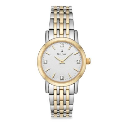 Bulova Diamond Collection Women's Two-Tone Bracelet Watch