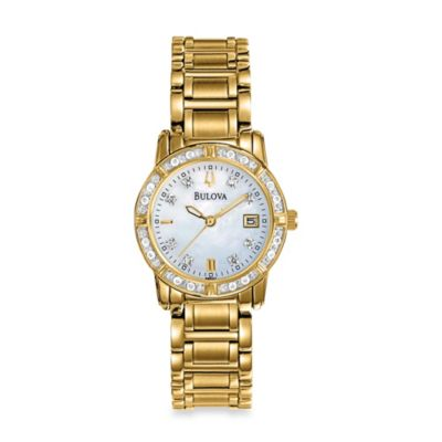 Bulova Highbridge Collection Women's Diamond Case Watch