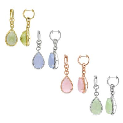 Pear Cut Dangle Earrings
