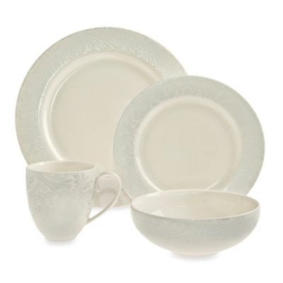 Denby Monsoon Lucille 4-Piece Dinnerware Set