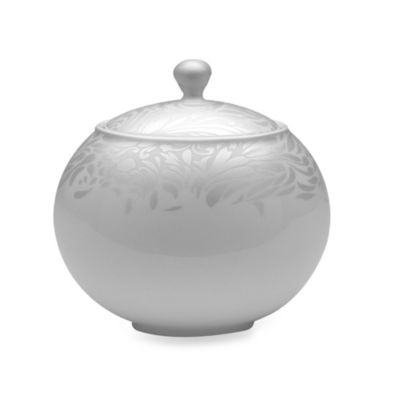 Denby Monsoon Lucille Silver Covered Sugar Bowl