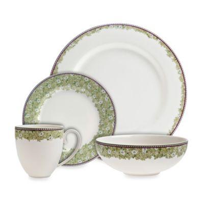 Denby Daisy 4-Piece Dinnerware Set