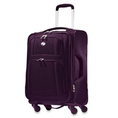 American Tourister iLite 21-Inch Carry-On Spinner in Purple