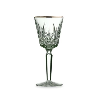 Waterford® Lismore Tall Gold Wine Glass