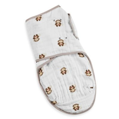 aden® by aden + anais® Large Easy Swaddle™ in Safari Friends Monkey