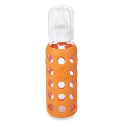 Lifefactory® 9-Ounce Glass Baby Bottle w/Silicone Sleeve in Orange