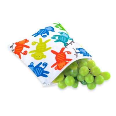 Itzy Ritzy® Snack Happens™ Reusable Snack & Everything Bag in Monkey Mania