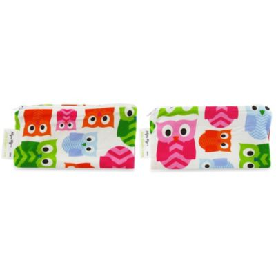 Itzy Ritzy® Mini Snack Happens™ Reusable Snack & Everything Bag in Hoot (Set of 2)