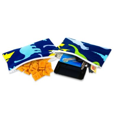 Itzy Ritzy® Mini Snack Happens™ Reusable Snack & Everything Bag in Dino-Mite! (Set of 2)