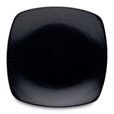 Noritake® Black on Black Snow Square Salad Plate