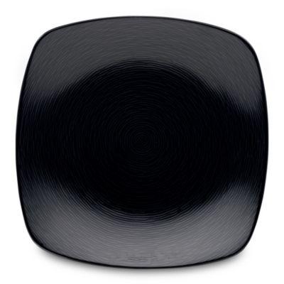 Noritake® Black on Black Swirl Square Salad Plate
