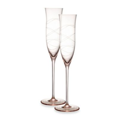 Nambe Crystal Pink 6-Ounce Motus Goblet - Set of 2
