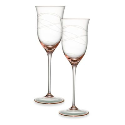 Nambe Crystal Pink 9.5-Ounce Motus Goblet - Set of 2