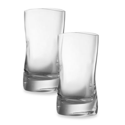 Nambe River 11.8-Ounce Highball Glasses - Set of 2
