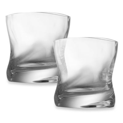Nambe River 9.8-Ounce Double Old-Fashioned Glasses - Set of 2