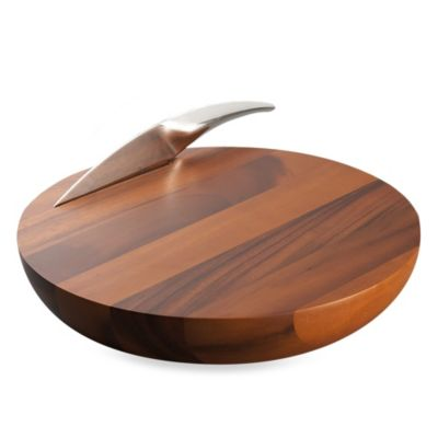 Nambe Harmony Cheese Board with Knife