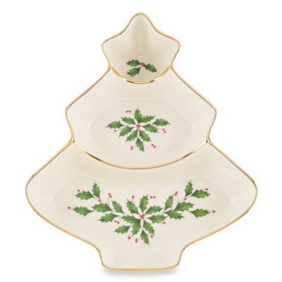Lenox® Holiday™ 11-Inch Divided Tree Server