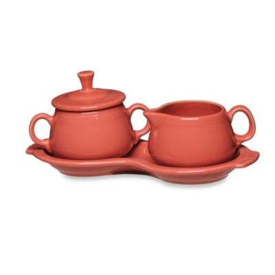Fiesta® Sugar and Creamer Set with Tray in Flamingo