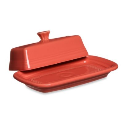 Fiesta® Extra-Large Butter Dish in Flamingo