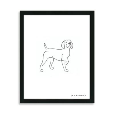 Pointer Framed Line Drawing