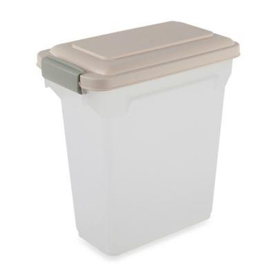 IRIS USA 15-Quart Airtight Pet Food Container in Almond