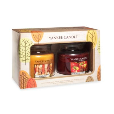 Yankee Candle® Harvest® and Macintosh Spice Medium Classic Candle Jars Fall Gift Set