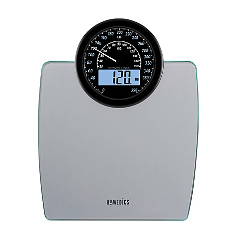 Homedics 174 900 Dual Display Digital Bathroom Scale Bed