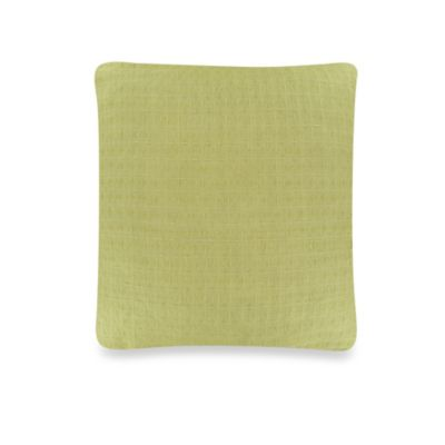 Vera Wang Modern Ikat Decorative Pillow in Green