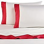 Vera Wang Modern Ikat Fitted Sheet in White/Red