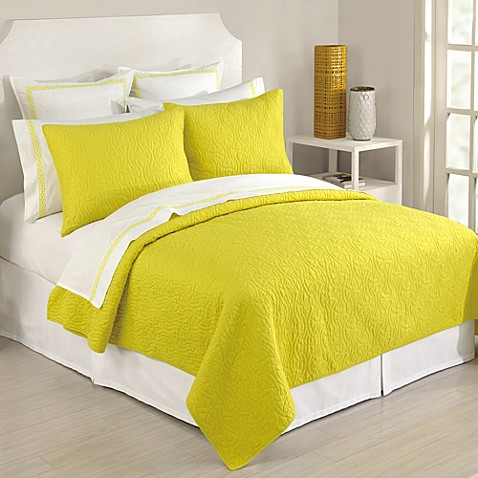 Trina Turk® Santorini Coverlet in Yellow