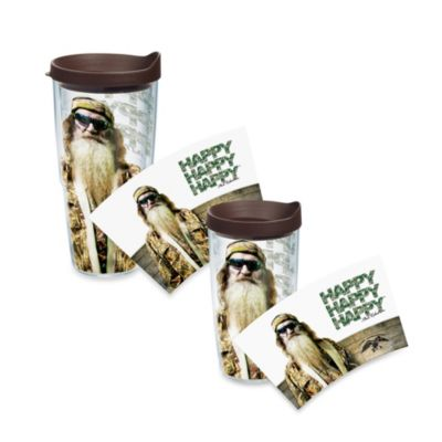 "Tervis® Duck Commander® ""Happy Happy Happy"" Phil Robertson Wrap Tumbler with Black Lid"