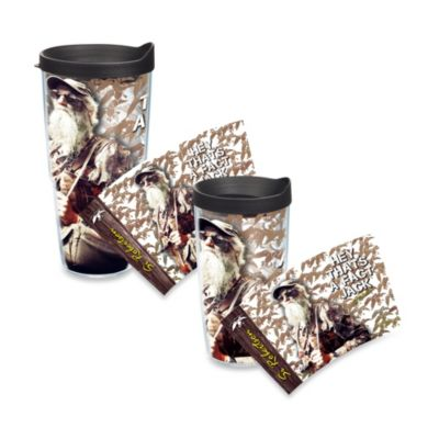 "Tervis® Duck Commander® ""Hey, That's a Fact Jack"" Si Robertson Wrap Tumbler with Black Lid"