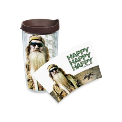 "Tervis® Duck Commander® ""Happy Happy Happy"" Phil Robertson Wrap Tumbler with Black Lid"