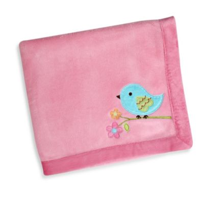 NoJo® Love Birds Applique Coral Fleece Blanket
