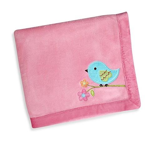 NoJoR Love Birds Applique Coral Fleece Blanket