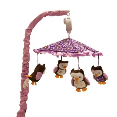 Baby's First by Nemcor Plum Owl Meadow Mobile