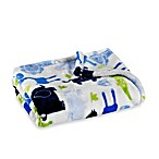 Baby Starters® Silky Soft Safari Blanket in Blue
