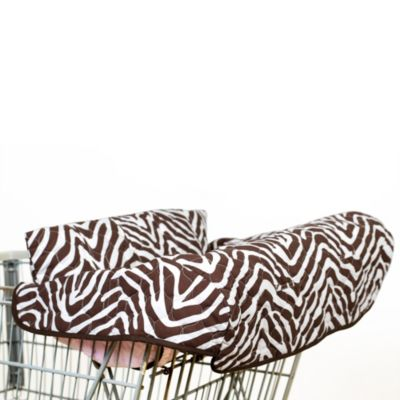 Pam Grace Creations Zara Shopping Cart and High Chair Cover in Zebra