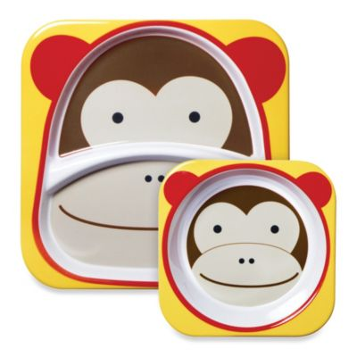 SKIP*HOP® Zoo 2-Piece Melamine Tableware Set in Monkey