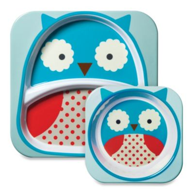 SKIP*HOP® Zoo 2-Piece Melamine Tableware Set in Owl