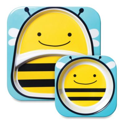 SKIP*HOP® Zoo 2-Piece Melamine Tableware Set in Bee