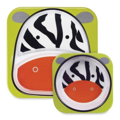 SKIP*HOP® Zoo 2-Piece Melamine Tableware Set in Zebra