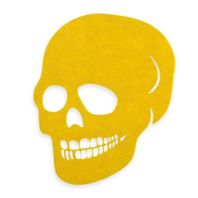 Felt Skull Placemat in Yellow