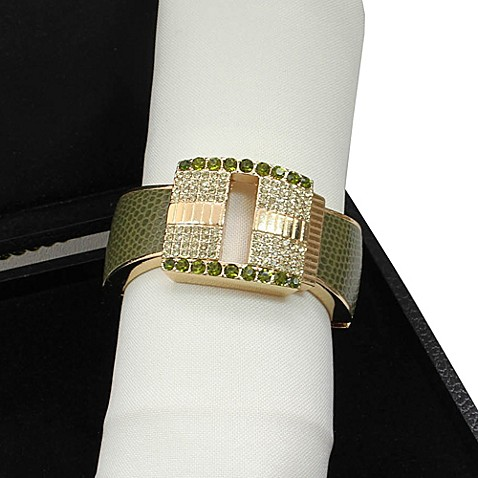 Carmona Diamond Square Napkin Rings (Set of 4)