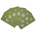 Winter Snowflakes Kitchen Towel in Green (Set of 6)