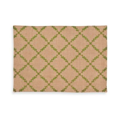 ecoaccents® Trellis Burlap Placemat in Green