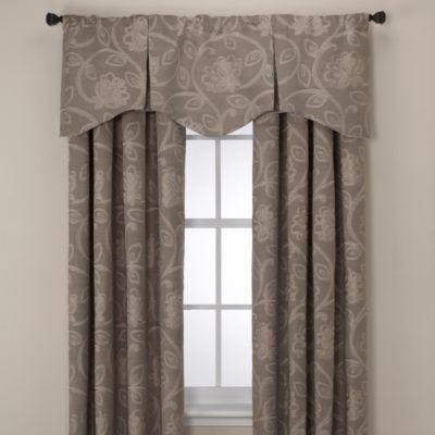 Jacobean Pleated Window Valance in Linen