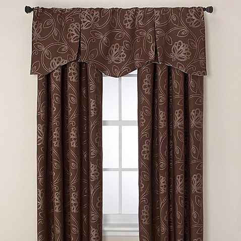 Jacobean Pleated Window Valance Www Bedbathandbeyond Com