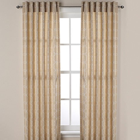 Westport Geo Rod Pocket Window Curtain Valance