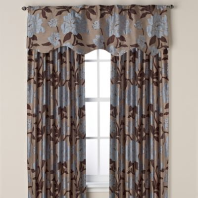 Gardenia Window Curtain Valance in Blue